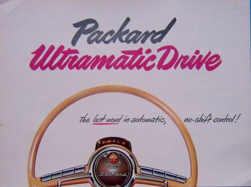 Vintage  Packard Ultramatic Drive Sales Brochure