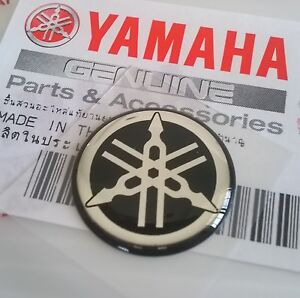 Yamaha Genuine 18mm Tuning Fork Black Silver Gel Decal Sticker Badge Uk Stock Ebay