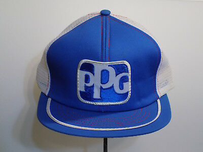 Blue /& White Pre-owned from Indy Car Race Vintage  PPG Trucker Hat Snapback