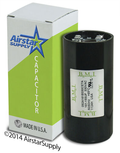 PACK 161-193 MFD uF HVAC Electric Motor Start AC Capacitor 330 VAC VOLT 2