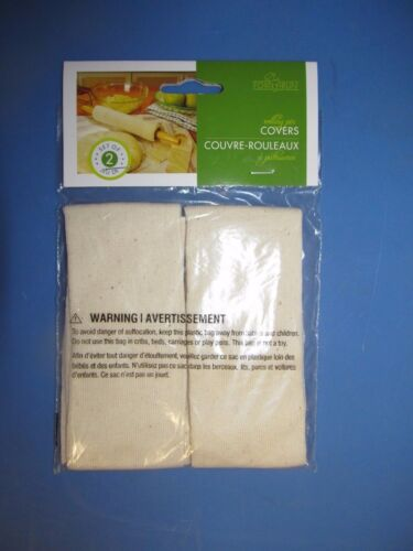 Fox Run Rolling Pin Covers 2PK  #4175  100/% Cotton Washable  NEW