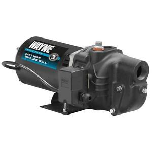 3 4 Hp Shallow Well Jet Pump Cast Iron Motor Water Priming
