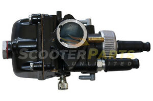 19mm Racing Carb Carburetor For Dellorto PHBG DS Black Scooter Moped Parts