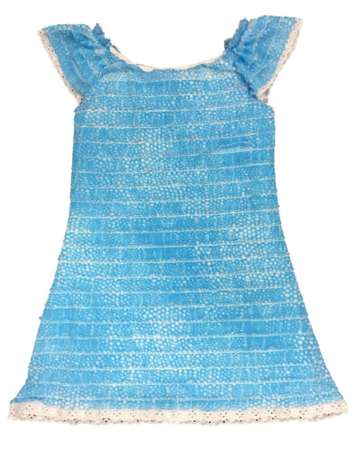 GIRLS DRESS TURQUOISE PLEATED FRILLY DRESS WITH UNDER LAYER 3-10 YEARS BNWT