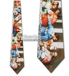 HonnêTe Dernier Supper Tie Leonardo Da Vinci Cravates Homme Art Cou Ties Brand New-afficher Le Titre D'origine Effet éVident