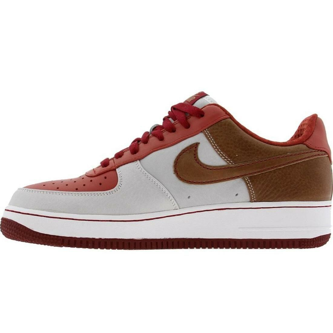 315180-121 Nike Air Force 1 07 Low Premium Mr Baltimore Pine Nut Red White Scarpe classiche da uomo