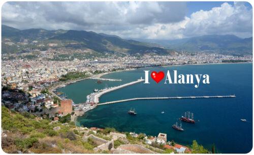 Magnet   I Love Alanya I Magnetschild Kühlschrankmagnet