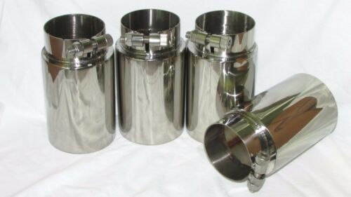 """BMW E46 M3 oversized 3/"""" Exhaust Tip Set of 4-304 Stainless"""