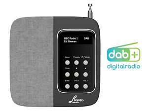 LAVA MALIE BLACK Radio /Sveglia DAB+/ FM RDS Portatile Batteria Ricaricabile