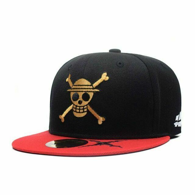 Anime One Piece Straw Hat Pirates Skull Cosplay Hats Baseball Cap Mesh Back Gift