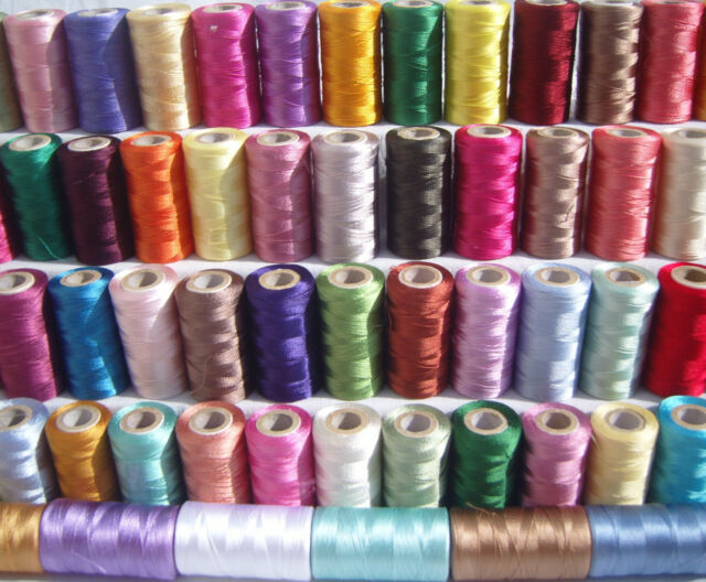 40 spools of sewing machine silk art embroidery threads