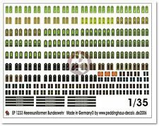 Peddinghaus 1/35 Bundeswehr Modern German Army Uniform Markings [Decal] 1233