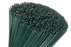 250g vert laqué fleuristes mince stub fil jauge 20 longueur de choix!  </span>
