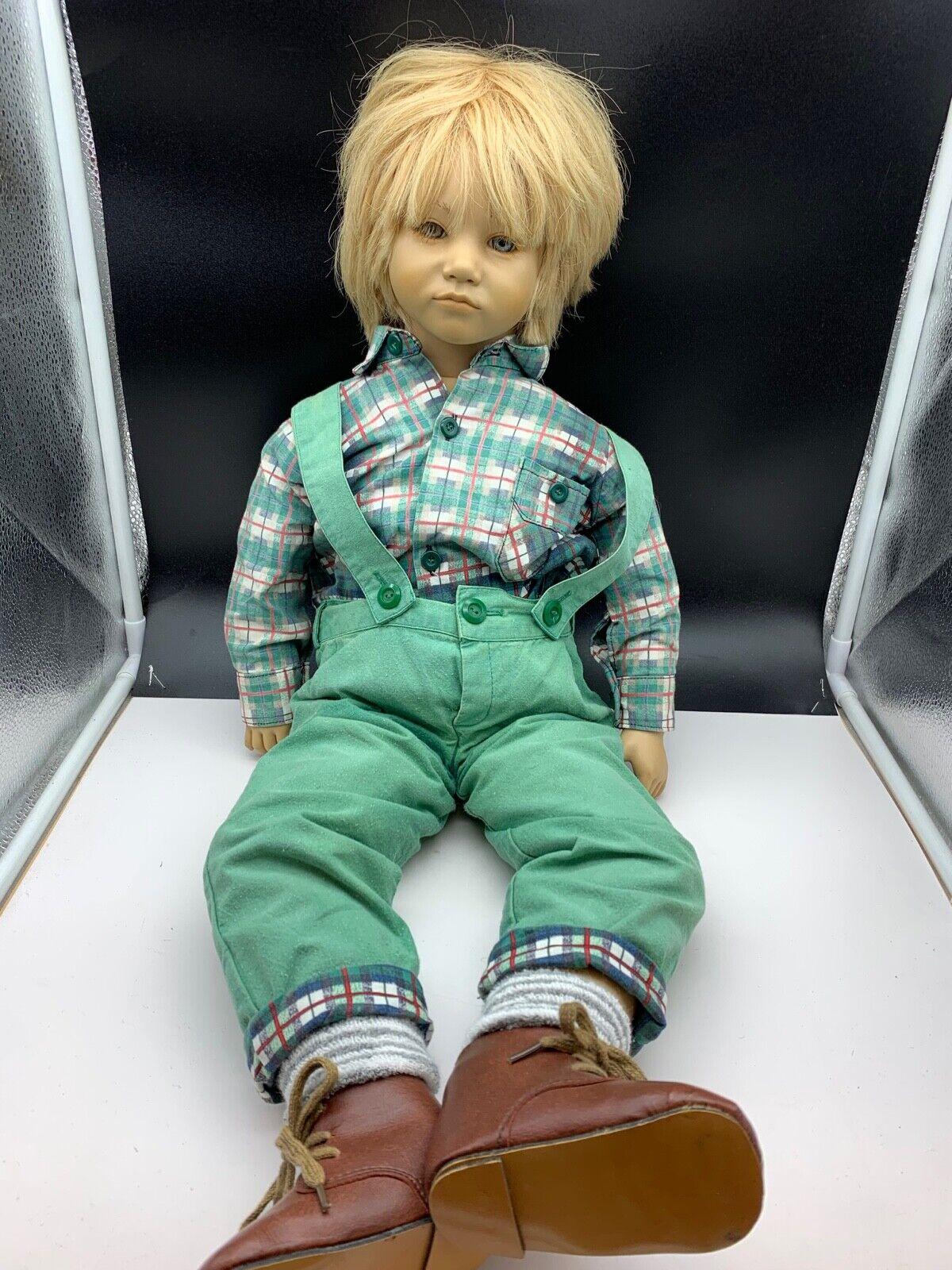 Annette Himstedt Puppe Künstlerpuppe Bastian 66 cm. top Zustand