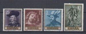 ESPANA-1962-NUEVO-MNH-SPAIN-EDIFIL-1434-37-Sc-1111-14-RUBENS