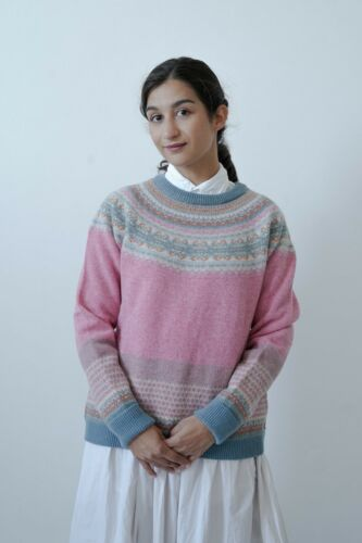 Eribe Alpine Sweater BNWT Merino Angora Fairisle SPECIAL PRICE RRP £165 Nougat