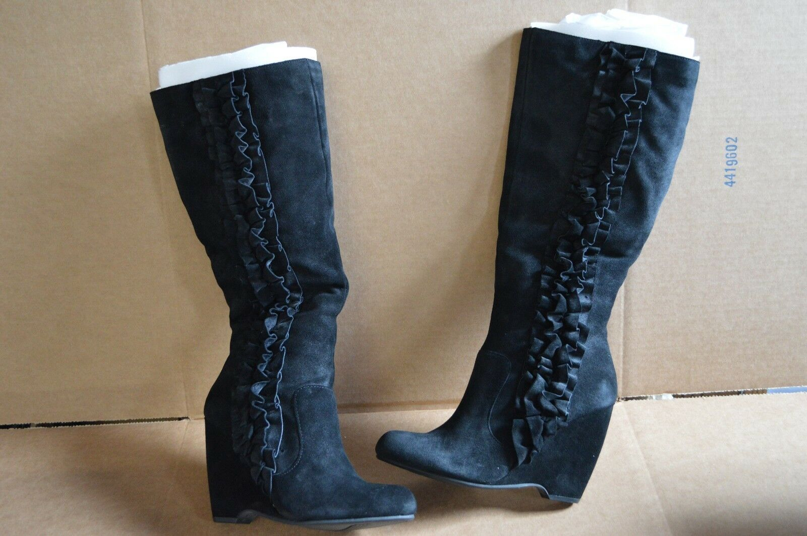 Mia Women's Giovanna Black Suede Knee High Boots 10 M New Defects