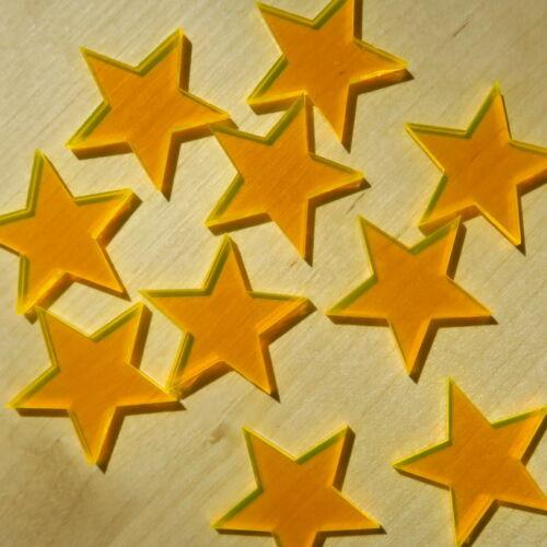Plexiglas ® Streudeko-étoile orange fluo-Bricolage Deco