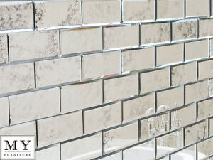 Antiqued Mirror Beveled Wall Tiles Bathroom Kitchen My