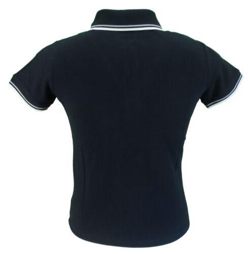 Merc Ladies Black Cotton Polo Shirt