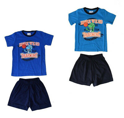 Gelernt Kinder Pyjama Neu Jungen Pyjama Cool Jungen Shorty Kinder Schlafanzug 2 Tlg