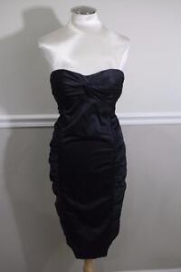 Nanette-Lepore-BLACK-GATHER-SIDE-STRAPLESS-Dress-Size-2-DR1000