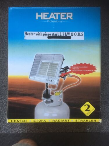 Space Warmer propane chauffage 3.7 kW Comprend Tuyau Et Régulateur PIEZO ALLUMAGE
