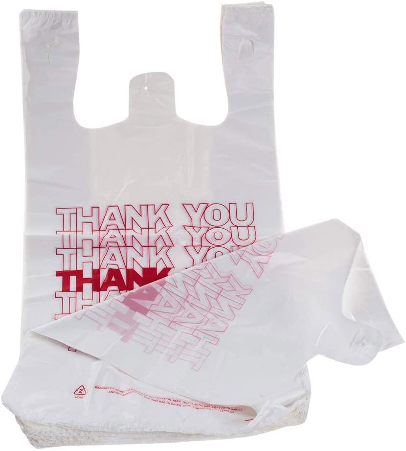 TashiBox Shopping Bags/Thank You Bags/Reusable and Disposable Grocery Bags - Mea
