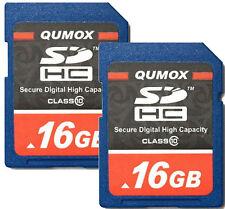 Lot of 2 x 16GB = 32GB SDHC Class 10 Flash Memory Card 16G SD HC Ultra Camera