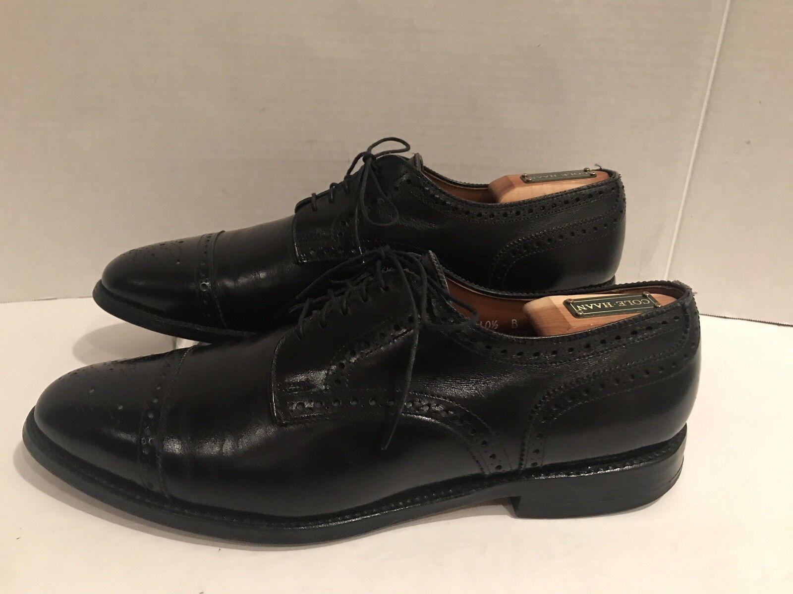 la migliore moda Allen Edmonds Sanford Cap-Toe nero nero nero Dress scarpe Uomo Dimensione 10.5 B  punto vendita