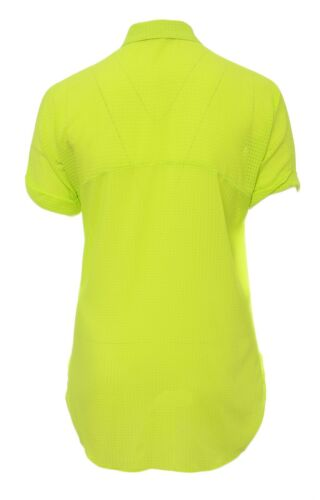 Bnwt Plus Size 16-30 Sheer Lime Shirt Blouse Top Textured Fine Check Fabric