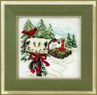 2011 Mill Hill Buttons & Beads Winter Series Holiday Delivery Cross Stitch Kit