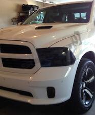 13-17 Dodge Ram precut HEADLIGHT tint vinyl smoked covers   $5 refund available