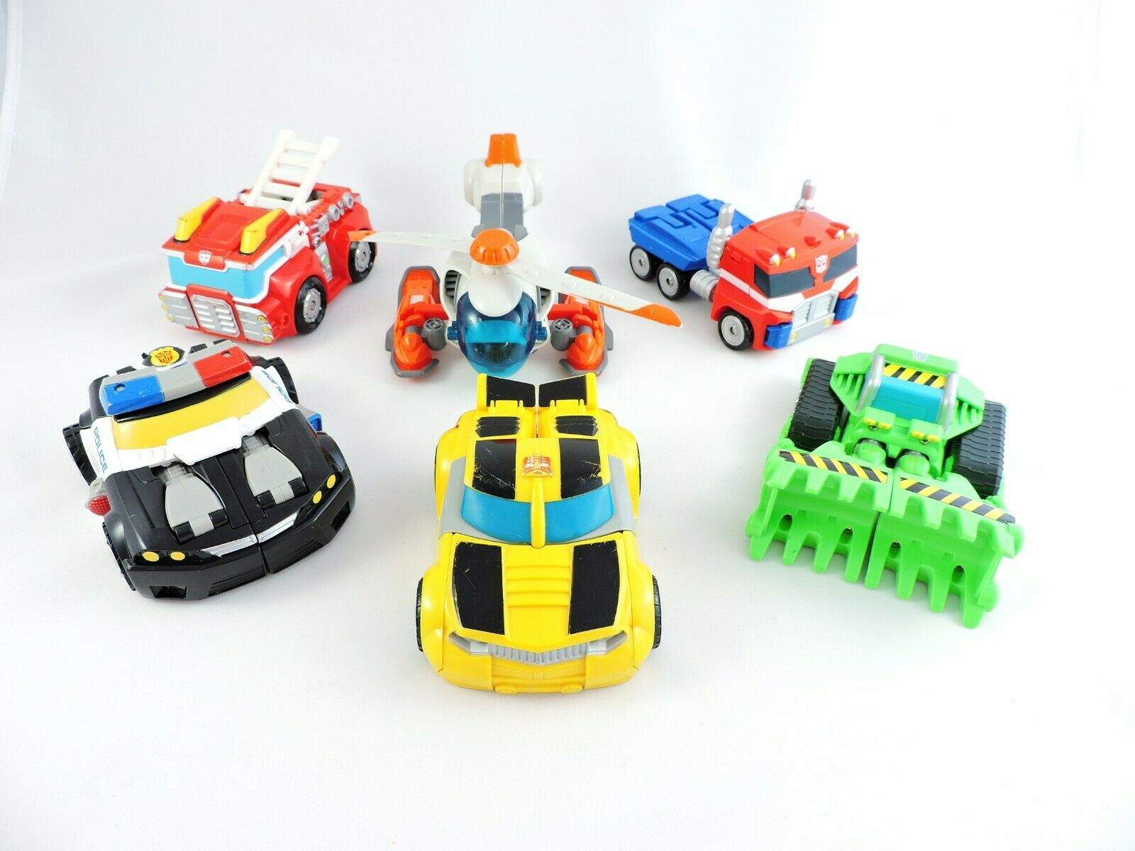 Complete Set TRANSFORMERS RESCUE BOTS 1st  Series Chase BLADES Heatwave BUMBLEBEE  100% de contre-garantie authentique
