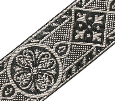 "Medieval 3 Yards Jacquard Trim Historic Style Gold /& Black  3½/"" wide Vestment"
