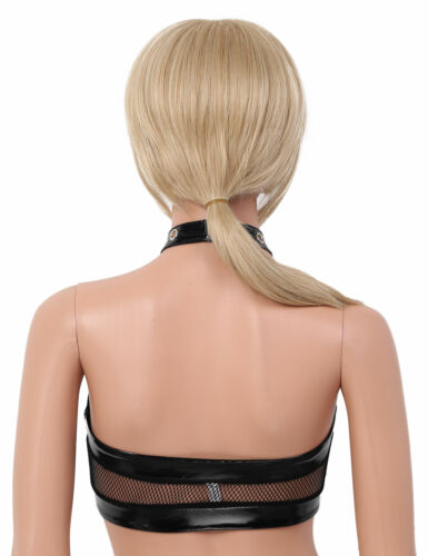 Women/'s Lingerie Leather Harness Hollow Cage Bra Tops Chest Belt Push Up Bustier