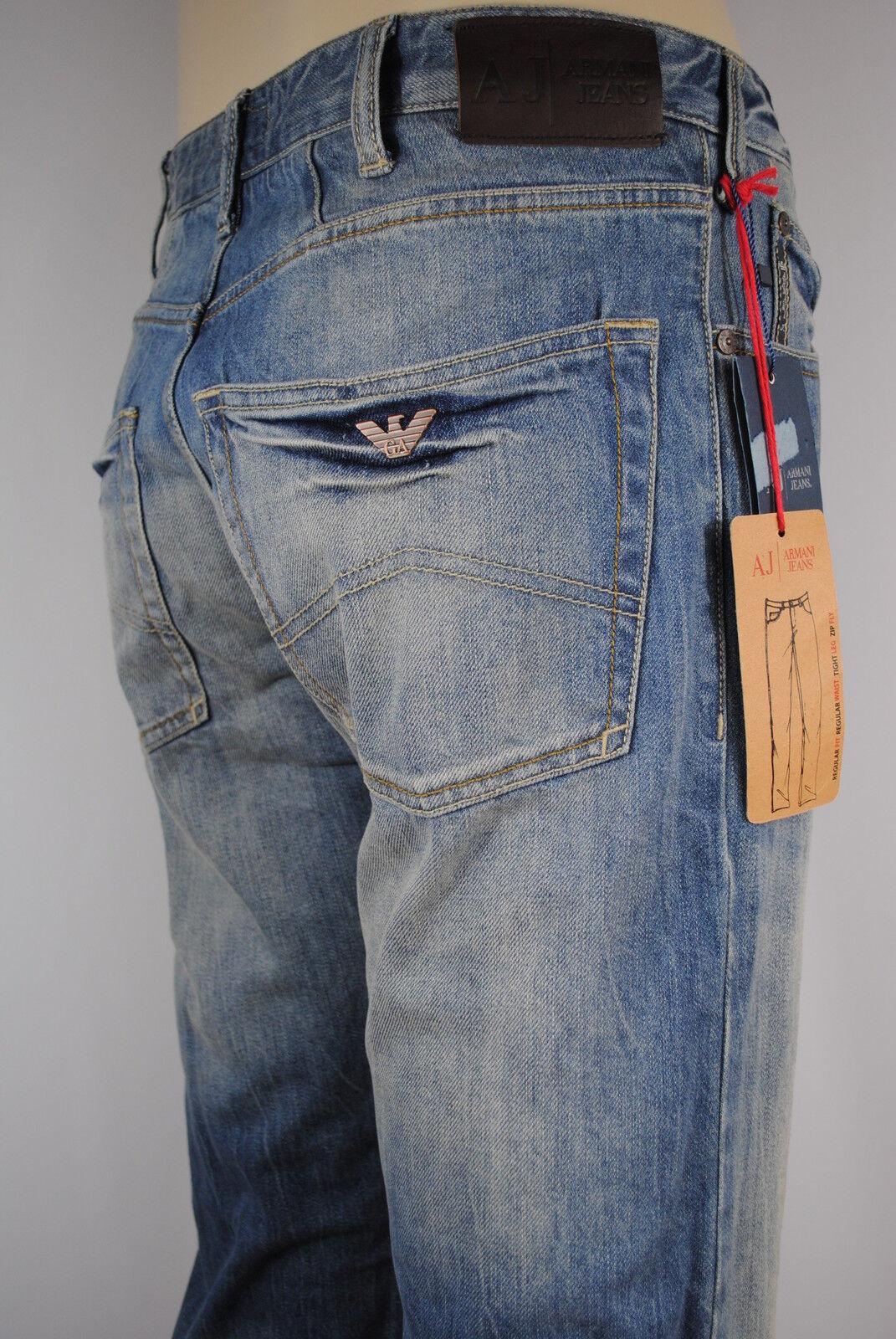 NEW MENS Armani Jeans J45 1G  regular fit Vintage wash denim jean SIZE