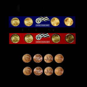 16 COINS P /& D MINT 2009 1 Cents LINCOLN BICENTENNIAL EARLY RELEASE 2 SETS