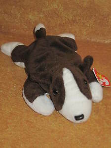 db958fc4cfc Ty Original Beanie Baby Bruno DOB 9-9-97 Brown   White Dog Puppy ...