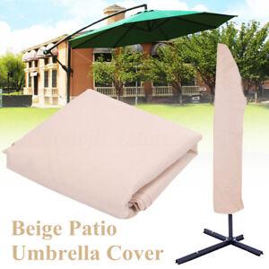 2 Size Waterproof Outdoor Garden Pool Patio Umbrella Canopy