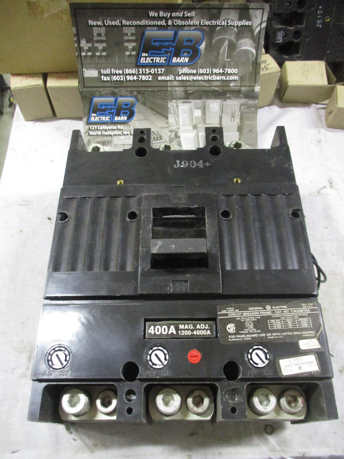 Ge General Electric Tjk436f000 Circuit Breaker 400 Amp 600 V 3 Pole Arc Fault Interrupter Afci Industrial Solutions Ebay