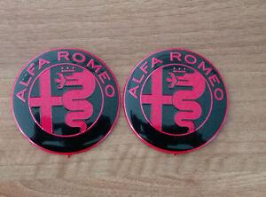 Set of 2pcs  RED/&BLACK Alfa Romeo Key fob 15mm emblem badge logo insignia