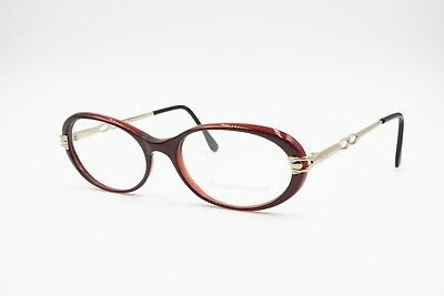 Oval Little Cay Eye Frame Red-violet Glittered, Ouverture Made In Italy, Nos 90s