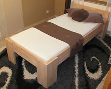 Massivholz Betten 120x200 Fuß I Einzelbett Gästebett Futonbett Buche Bettrahmen