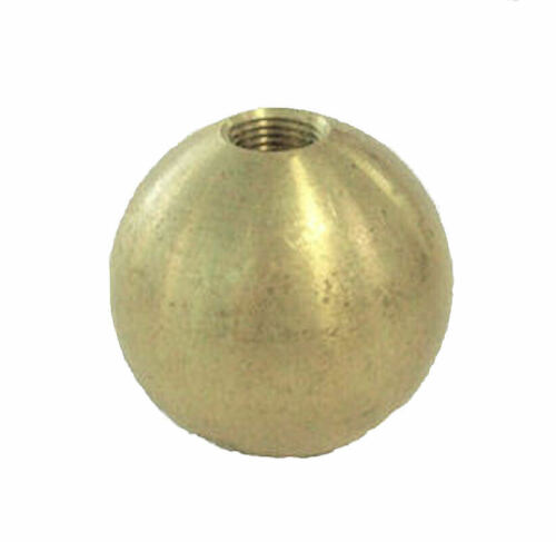"""1 1//2/"""" UNFINISHED BRASS BALL WITH 1//8 IPS THREADED HOLE     TV-375"""