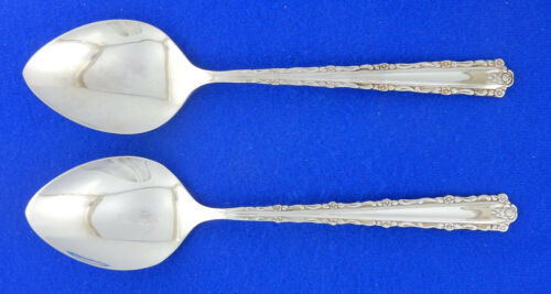 """Set of 2 TWO Oneida Cherie Oval Soup Spoons Spoon 6 3//4/"""" DLX Stainless Flatware"""