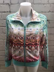 Woman-039-s-Adidas-Originals-Track-Top-Talla-14-Multicolor-Mariposa-Chaqueta-De-Las-Senoras