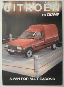 Citroen C15 Champ Van Orig 1992 Uk Mkt Sales Brochure Ebay