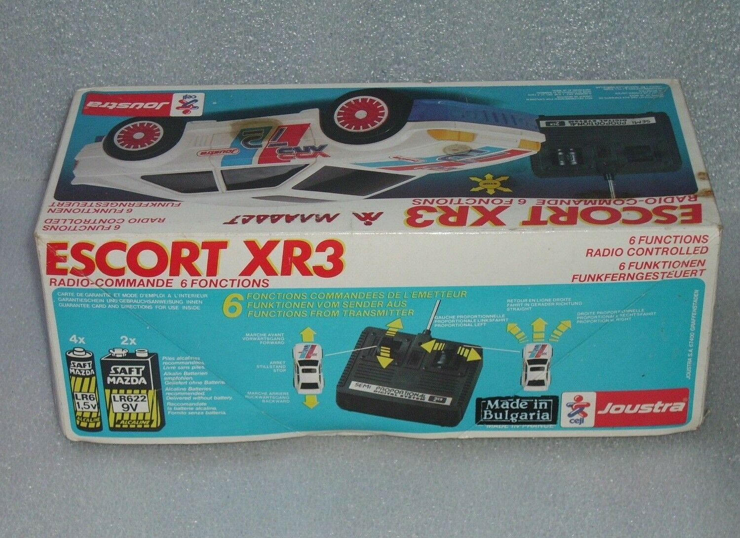 RARE VINTAGE JOUSTRA FORD ESCORT XR3 RADIO-CONTROL 6 FUNCTIONS, FRANCE-BULGARIA FRANCE-BULGARIA FRANCE-BULGARIA 22fea7
