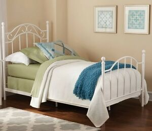 Image Is Loading Twin White Country Style Metal Beds Bed Bedroom